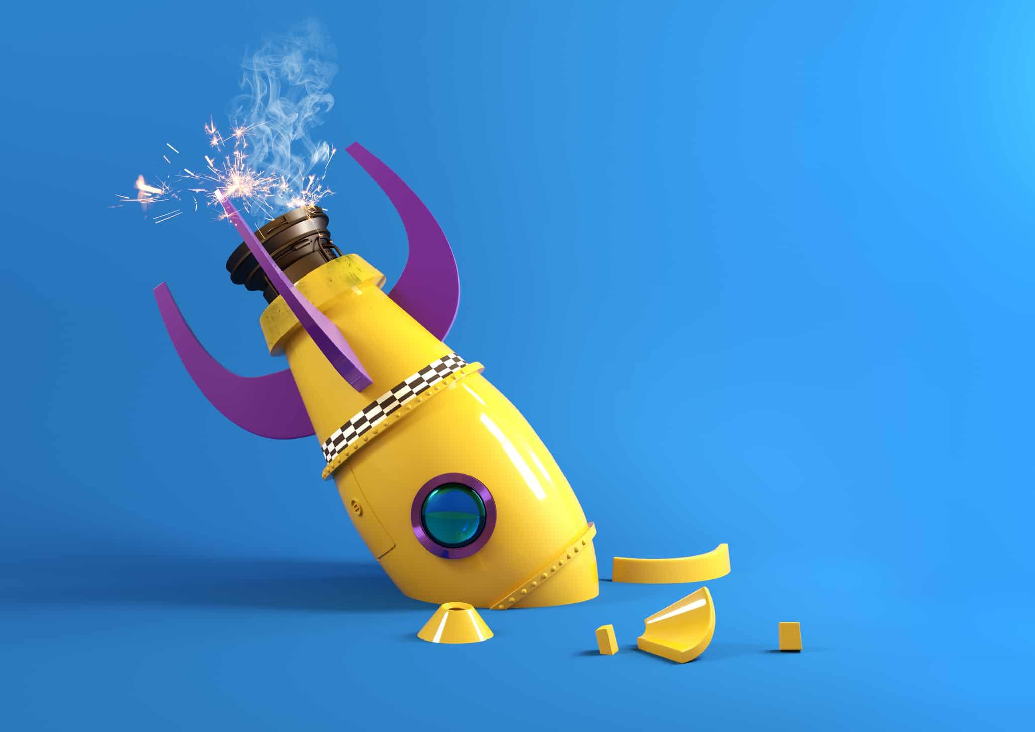 Broken Retro Toy Rocket